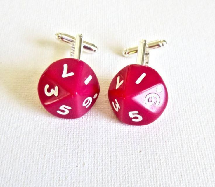 Dungeon and Dragons D10 Dice Cufflinks