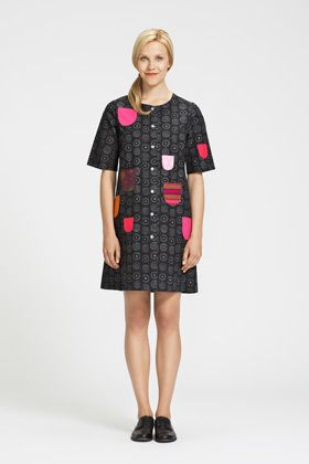 Marimekko dress - cute pockets!