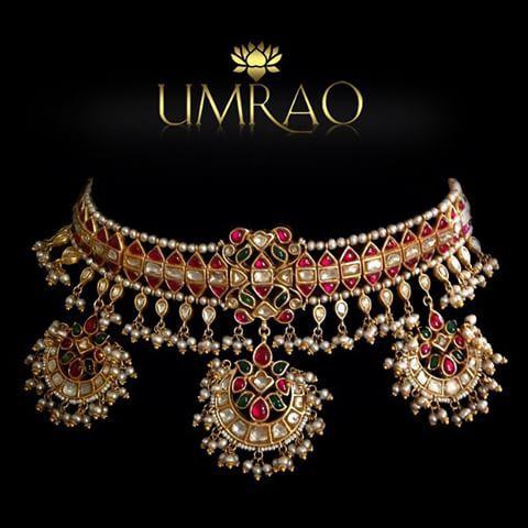 By Umrao Jewels. Bridelan - Personal shopper & style consultants for Indian/NRI weddings, website www.bridelan.com #WeddingChoker #BridalChoker #PolkiChoker #ChokerNecklace #JadauChoker #BridalJewellery #DiamondChoker #EmeraldChoker #RoyalWeddingJewellery #NizamJewellery #Polki #Jadau #IndianJewellery #TraditionalJewellery #Bridelan #BridelanIndia
