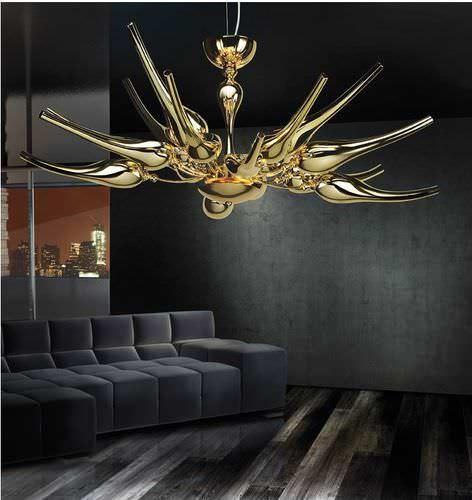 Lampadario moderno / in metallo / fatto a mano EGO sognidicristallo