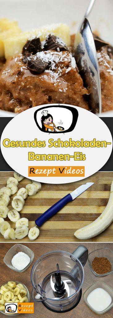 Gesundes Schokoladen-Bananen-Eis, Rezeptvideos, Desserts, Nachtisch, Eis Rezepte, gesunde Rezepte, leckere Rezepte, einfache Rezepte, schnelle Rezepte