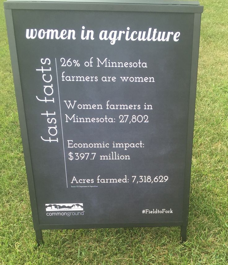 Women in agriculture statistics. 26% of farmers in Minnesota are women.