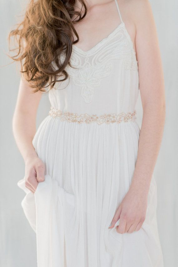 Rose Gold Sash Rose Gold Dress Belt Sash Wedding Sash