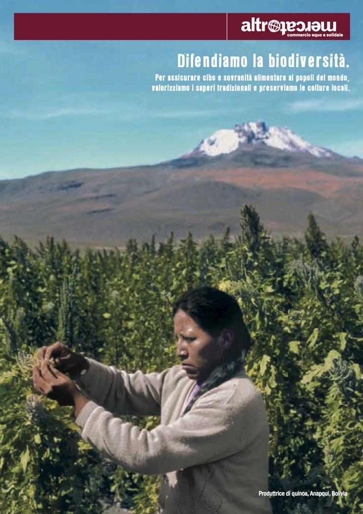 ---Agosto 2013--- Difendiamo la biodiversità.    Per assicurare cibo e sovranità alimentare ai popoli del mondo, valorizziamo i saperi tradizionali e preserviamo le colture locali.