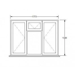 UPVC Window 03 CAD Dwg Download