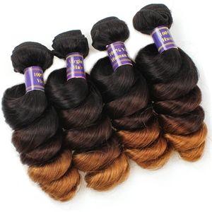 【Peruvian Diamond Virgin Hair】wholesale ombre Loose wave virgin human hair bundles #peruvianhair #hairbundles #ombrehair