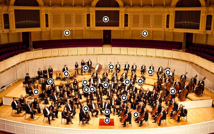 TOUCH this image to discover its story. Click on each instrument in the orchestra to see and hear it being played.