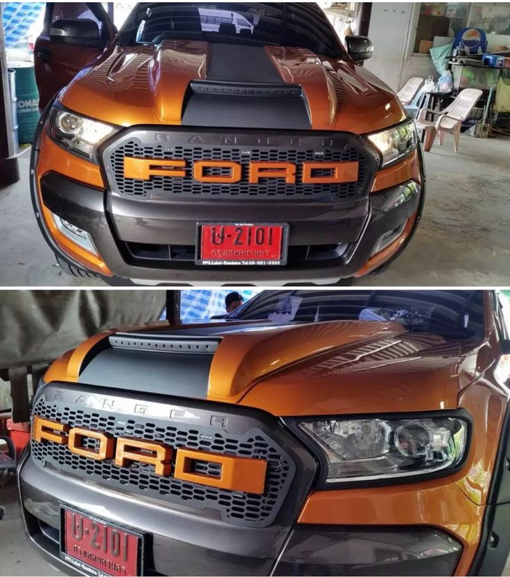 Ford Ranger custom bonnet scoop, 2016/17 model mkII.