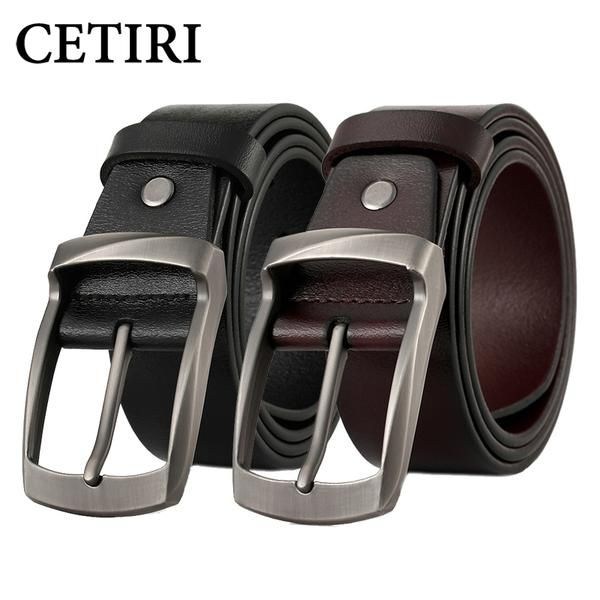 #FASHION #NEW CETIRI vintage men belt luxury brand belt for men casual belt cow genuine leather belts for men jeans high quality brown kemer