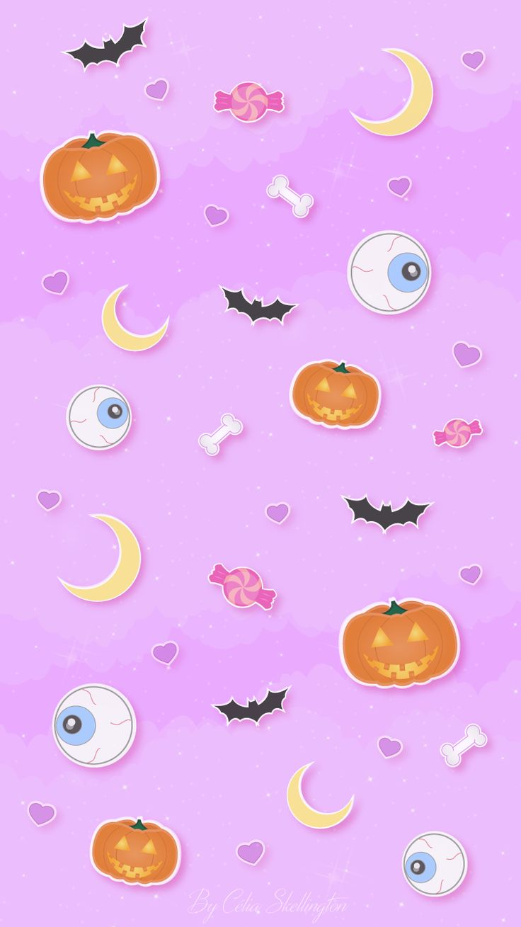 Halloween Trick or Treat iPhone Home Wallpaper @PanPins