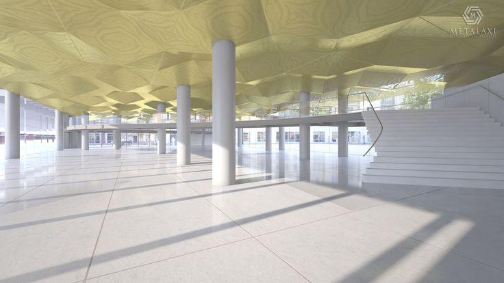 Perforated Aluminum suspended ceilings in unique patterns. Metalaxi Innovative Architectural Products. www.metalaxi.com Life is in the details.