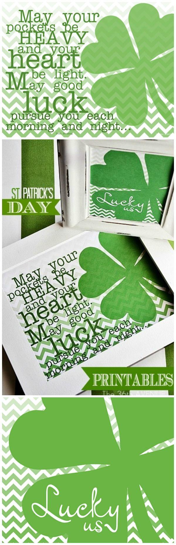 St. Patrick's Day Free #Printables... Lucky Us! #stpatricksday