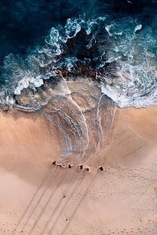 Sandy Ocean Beach With Friends Shot From A Drone Landscape Photography Tips Beach Friends Landscape Photography