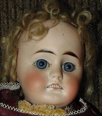 Антикварная фарфоровая кукла много зубов! Германия 305 красивые голубые глаза!   Куклы и мягкие игрушки, Куклы, Антикварные (до 1930 г.)   eBay!
