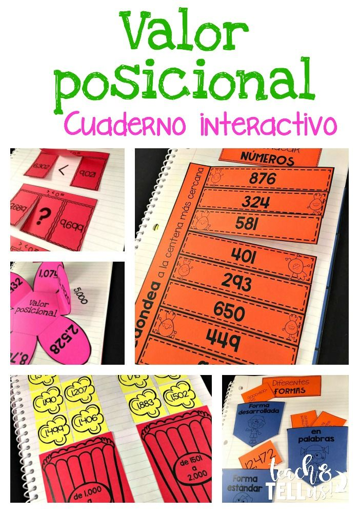 Place value activities in Spanish for third grade dual language or bilingual classroom. Actividades de valor posicional para tercer grado.
