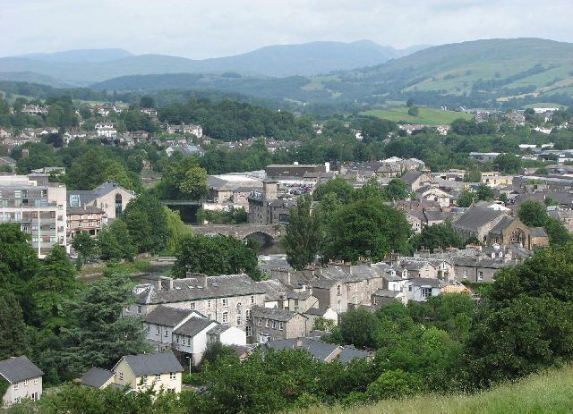 View of Kendal from the castle