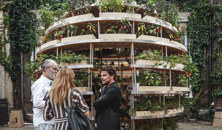 The Growroom is a community garden structure, designed to feed multiple people with a minimal structural footprint.