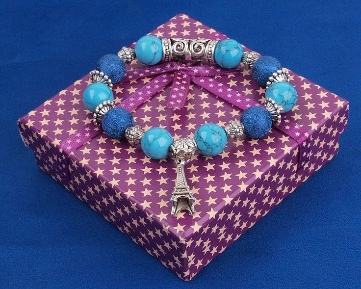 Шикарные подарки для девушек - оригинальные браслеты из натуральных камней. http://stefi.com.ua/catalog/element/braslet-istorii-parizha-siniy/