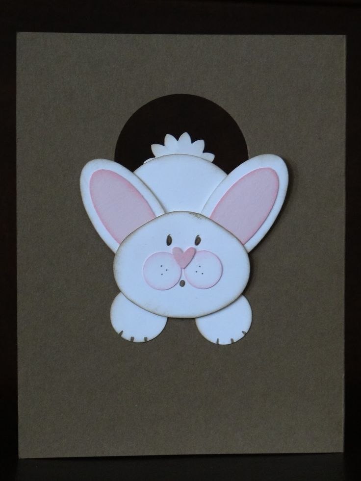 How absolutely adorable is Ms. Bunny disappearing down her bunny hole?  When I saw her card on Leena Girsa's blog (she CASEd it from Lor...
