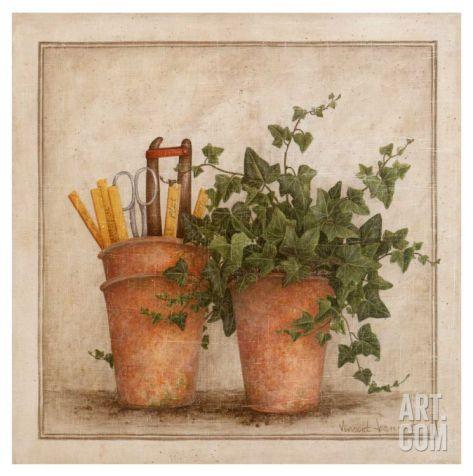 Lierre et Pots II Art Print by Vincent Jeannerot at Art.com