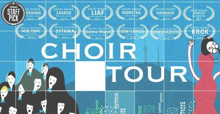 https://vimeo.com/44336109 It's a wild free-for-all when a famous boys' choir breaks away from their conductor while on tour in Seoul and causes mayhem in the hotel. Awards and mentions:  Renzo Kinoshita Award at 15th IAF HIROSHIMA, Japan, 2014 The Best Animation Award at 29th Interfilm Berlin, Germany Sound & Mus