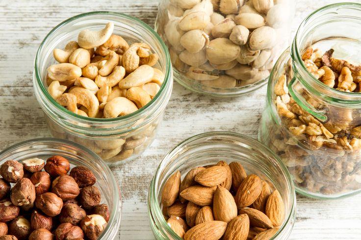 Frutos secos: calorías, grasas, proteínas, fibra y carbohidratos
