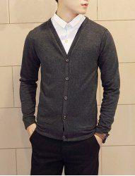 $10.78 Cárdigan de Suéter con Collar-V y Manga Larga Diseñado de Estilo Elegante para loos Hombres