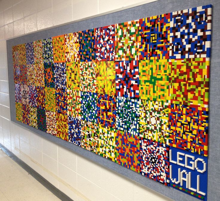 Our Lego Wall was Installed! - Dryden Art