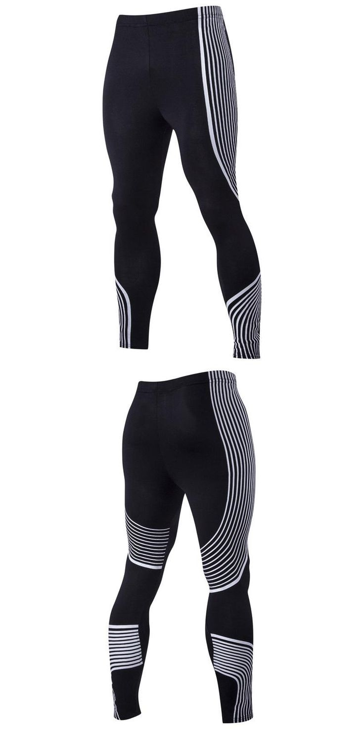 Men's Sexy Tight Pants Fashion stripe Trousers Casual Sweatpants Elastic Slim Fitted Active Crossfit Workout Pants for Men F045