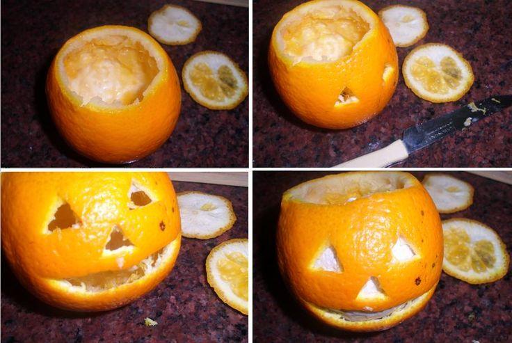 calabazas falsas con naranjas