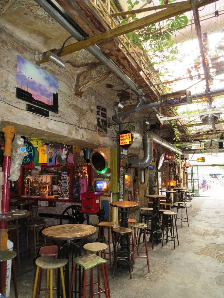 The grandfather of all ruin pubs, Szimpla Kert is also home to a very charming farmer's market held every Sunday morning in Budapest.