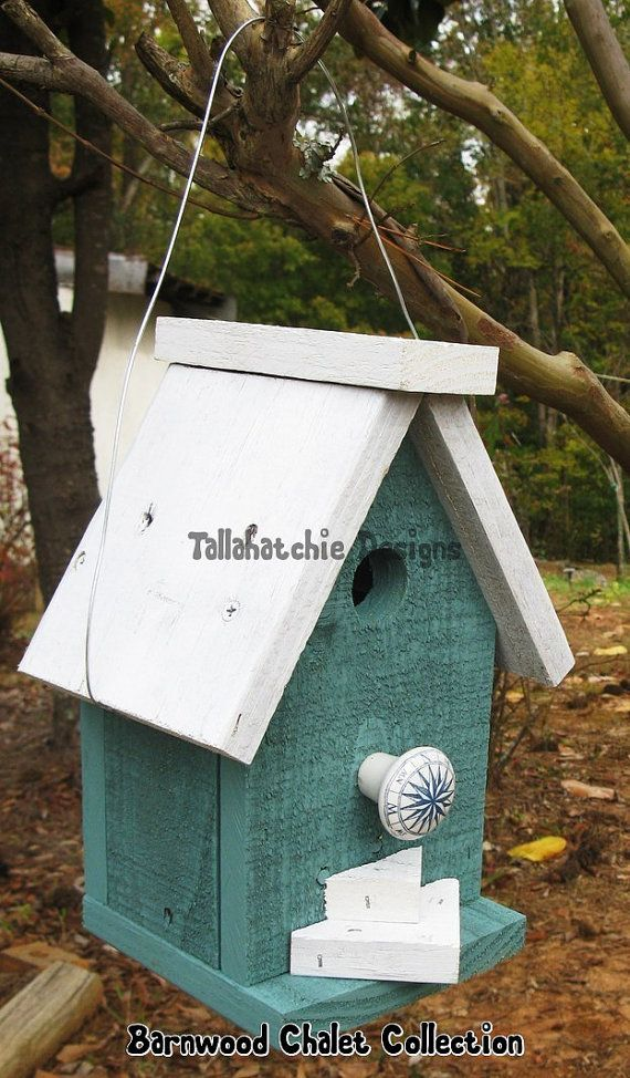 25% OFF Birdhouse Barnwood Birdhouse Chalet by TallahatchieDesigns