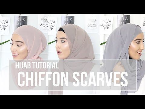 3 Chiffon Scraves Hijab Tutorial | Hijab Fashion Inspiration