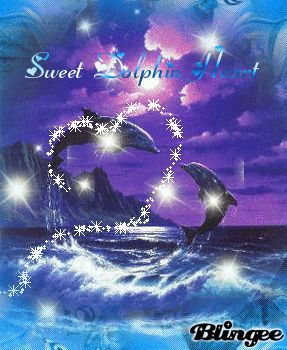 dolphin animated glitter graphics | Dolphin Heart Images Pictures And Graphics Page