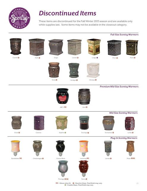 "Scentsy Items ""Discontinued"" for Fall/Winter... Stock Up Now!! None are guaranteed to return next Spring season.  www.RoniRocks.Scentsy.us"