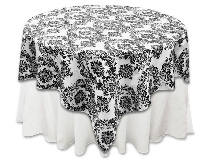 "10 pcs 90x90"" Damask Flocking Table Top OVERLAYS Wedding Party Wholesale Linens"