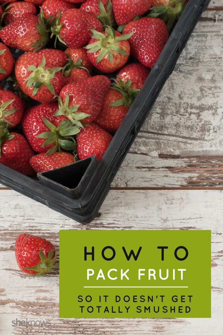 Easiest way to pack your little ones fruit neatly and safely so it doesn't get…