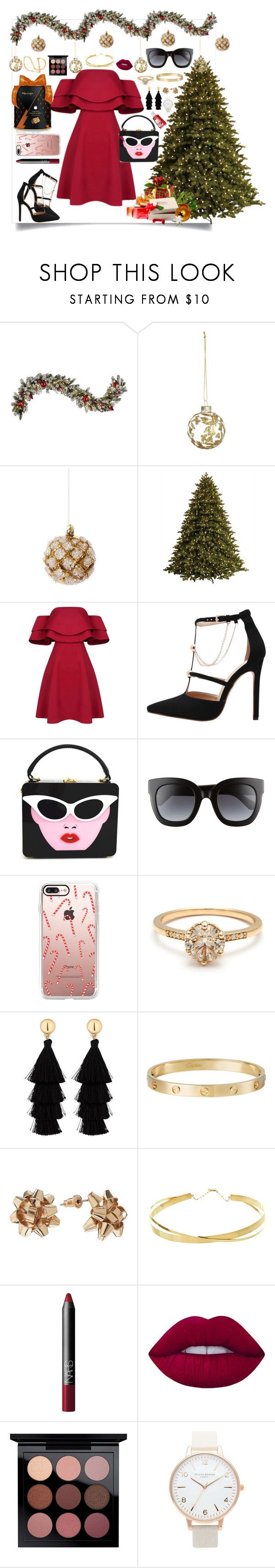 """🎄🎁Natal🎁🎄"" by julianafb ❤ liked on Polyvore featuring Improvements, Shishi, GE, Gucci, Casetify, Red Herring, Cartier, Lana Jewelry, NARS Cosmetics and Lime Crime"