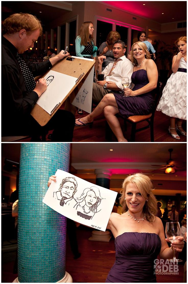 caricature artist at reception.. fun idea