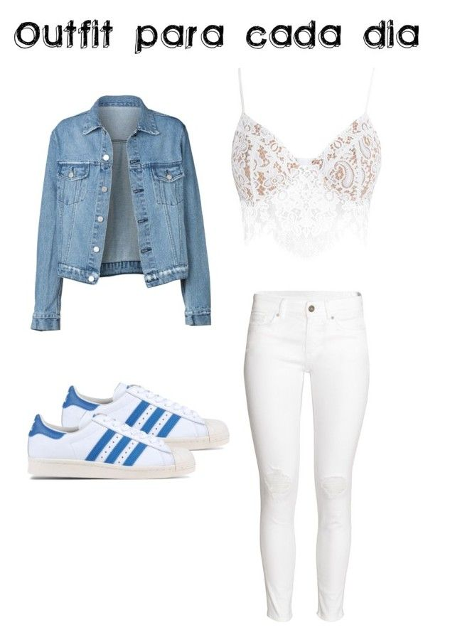 """Outfit para cada día"" by turbopeka on Polyvore featuring moda, For Love & Lemons, H&M y adidas Originals"
