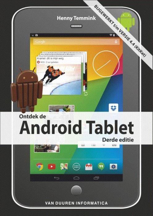 Ontdek de Android tablet  Android 4.4 KitKat is het besturingssysteem van Google voor tablets. Talloze fabrikanten leveren tablets met Android. Dit boek beschrijft wat Android in huis heeft en hoe u de krachtige functies van de tablet volledig benut. Van het toetsenbord en de installatie tot het gebruik van apps (en de Play Store) en de bespreking van nuttige tips en trucs: u leert alles om het meeste uit uw Android Tablet te halen. Uit de inhoud: De eerste stappen: maak kennis met Android…