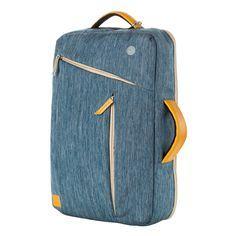 """eimo Transformable portable étanche sac à dos de 15 pouces avec des poches multi-taille pour ordinateur portable 15 """"est utilisé comme sac à dos et sac à main Satchel 15"""" ordinateurs portables / Macbook Pro 15.4 '' / Macbook Air 15.4 '' / Macbook d'affichage de la rétine Pro 15.4 '' (bleu)"""