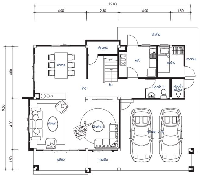 House Design Plan 12x9 5m With 4 Bedrooms House Plan Map Home Design Plans Duplex House Design 4 Bedroom House Designs