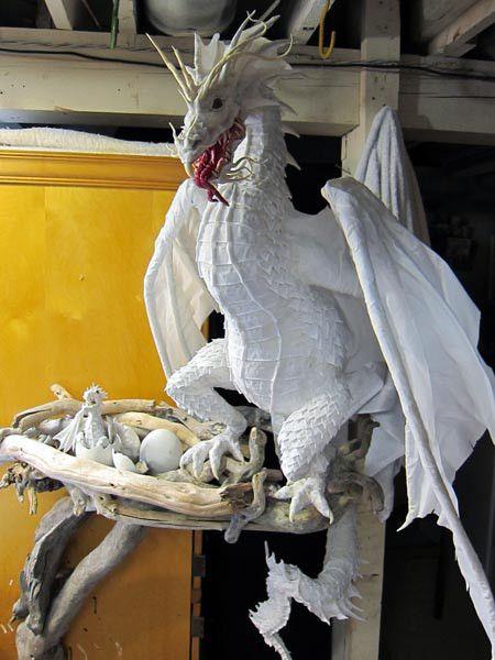 paper mache dragon instructions