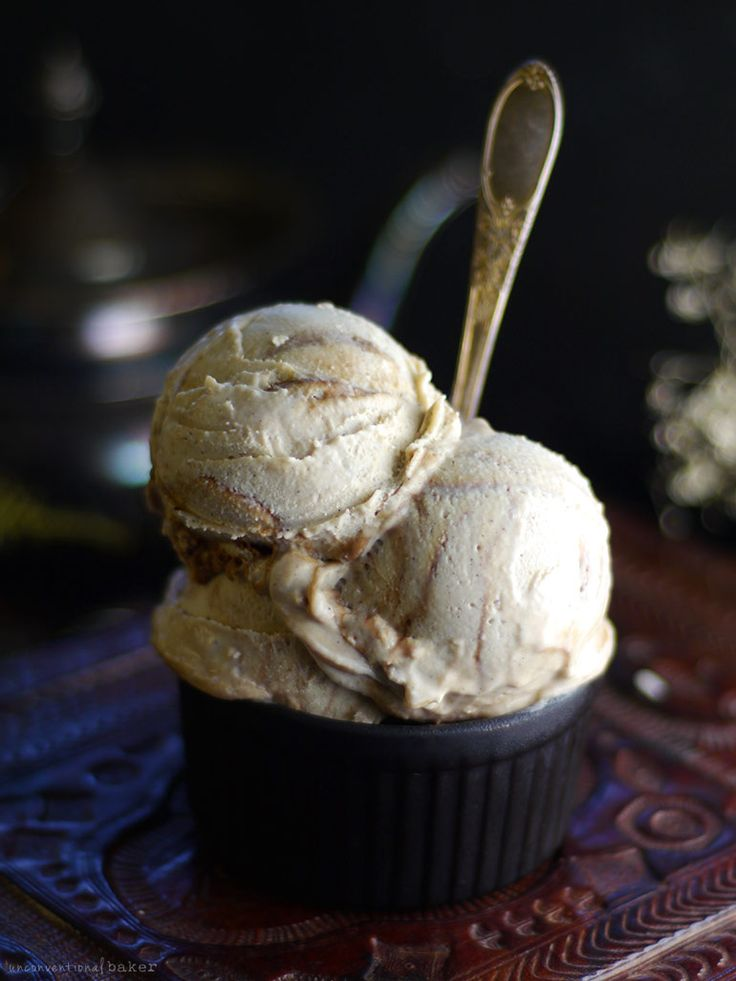 Vanilla & Salted Caramel Swirl Ice Cream (No Churn, Dairy-Free, Refined Sugar-Free)