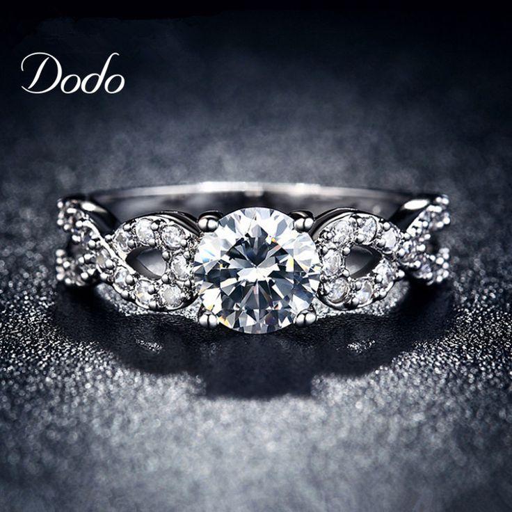 Moda Obrączki dla kobiet biały pozłacane CZ Diament biżuteria pierścień rocznika bijoux bague kobiet Nieskończoność miłość prezent DR099