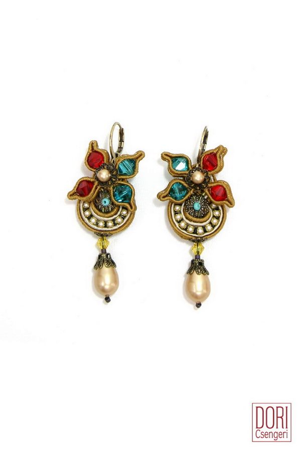 BQE-E573Y , bqee573y , floral , flower , earrings ,