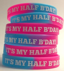 Half Birthday Wristbands