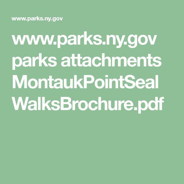 www.parks.ny.gov parks attachments MontaukPointSealWalksBrochure.pdf