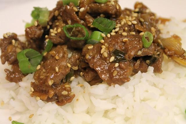 Korean BBQ BeefKorean Bbq, Hot Rice, Beef Servings, Bbq Beef, Recipe Adaptations, Bulgogi Recipe, Korean Beef, Bbq Korean, Korean Bulgogi